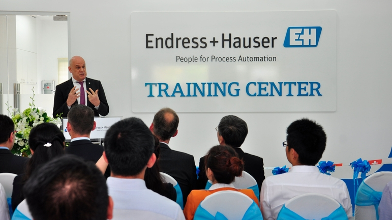 Endress+Hauser Training Center – HCMUT - Mr Leber – Head, Endress+Hauser in Vietnam