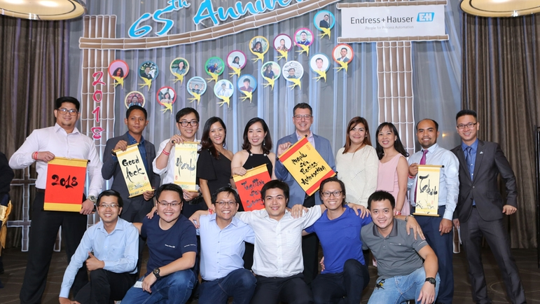 Asia Pacific Support Center in Vietnam celebrated 65th anniversary of the Endress+Hauser Group