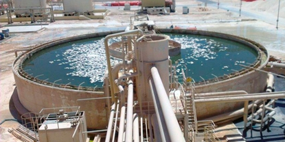 Thickener in the mining process.