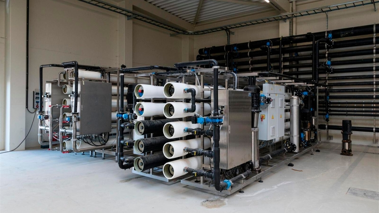 Reverse osmosis system at the Pasfrost plant.